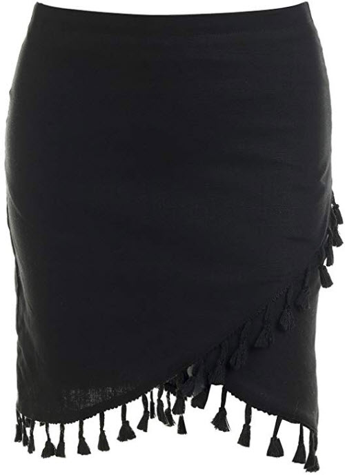 Missy Chilli Women's High Waisted Casual Elastic Mini Skirt Elastic Bodycon Pencil Skirt,  ...