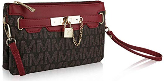 MKF Crossbody Purse for women – Removable Adjustable Strap – Vegan leather wristlet  ...