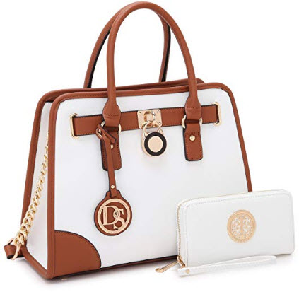 MMK Collection Vegan Leather All Seasonal Women Satchel handbags Tote bag With FREE Matching Wallet
