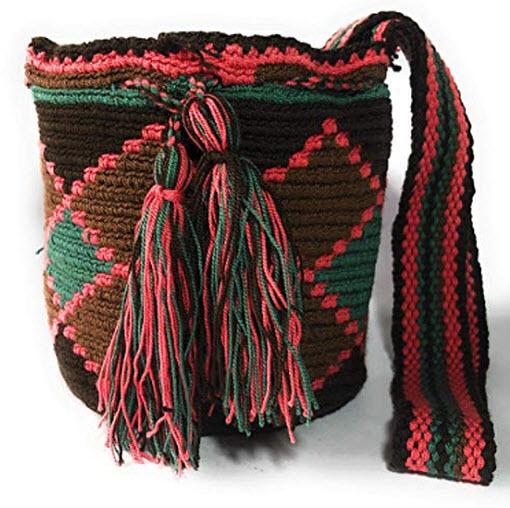 Mochila Wayuu MINI Ethnic 100% hand Woven Shoulder Bag Multicolor
