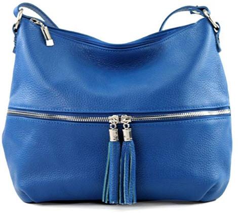 modamoda de – ital. Leather bag Leather bag Shoulder bag Leather T159, blue