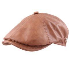 Modissima Shine Leather Flat Cap