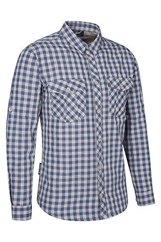 Mountain Warehouse Travel Convertible Checked Mens Shirt