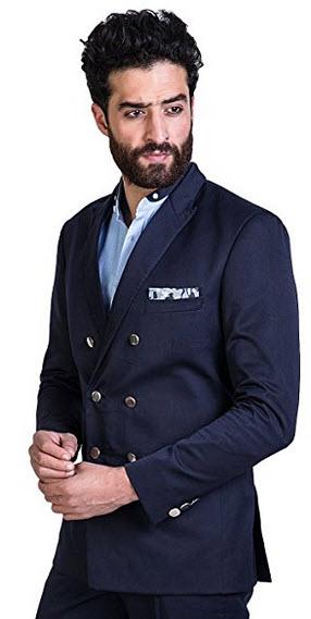 Mr Button Men's The Napoli Maverick Double Breasted Blazer.