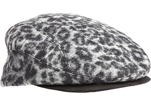 Mr. Kim Jimmy Leopard-Print Wool & Suede Snap-Front Driving Cap