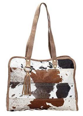 Myra Bag Stripes Cowhide Tote Bag S-1164