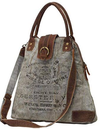 Myra Bags Gerster Upcycled Canvas Shoulder Bag S-0765