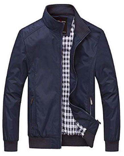 Nantersan Mens Casual Jacket Outdoor Sportswear Windbreaker, navy