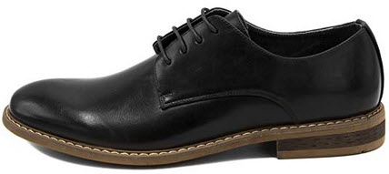 Nautica Men's Dress Shoes Wingtip, Lace Up Oxford Business Casual black smooth