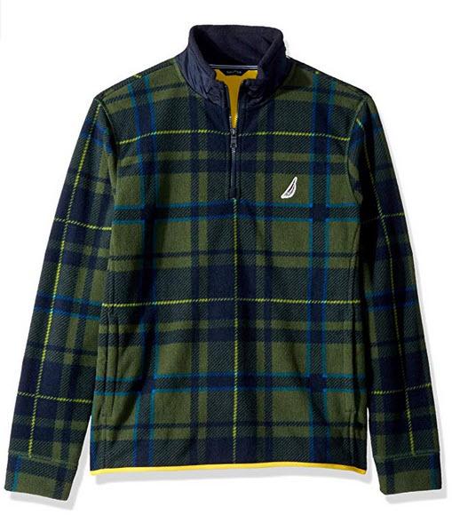 Nautica Men's Long Sleeve 1/2 Zip Heritage Sweatshirt pacific pine