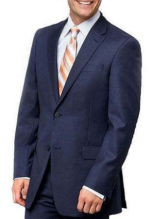 Nautica Navy Neat Two Button Notch Lapel New Men's Sport Coat.