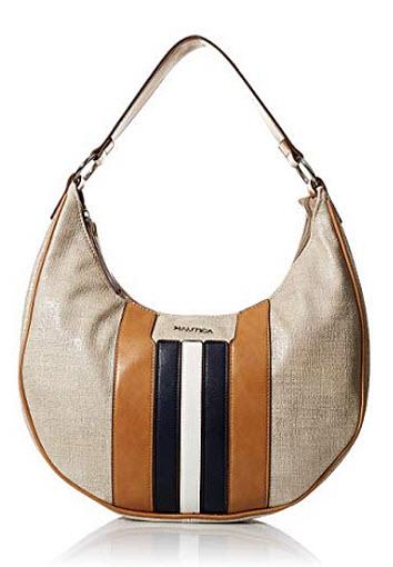 Nautica Seaswift Hobo Shoulder Bag, metallic linen