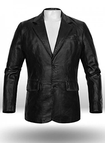 New York Leather Men's Medieval Leather Blazer