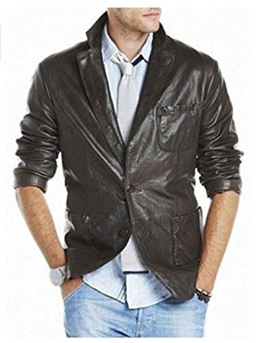 New York Men Classic Genuine Leather Blazer
