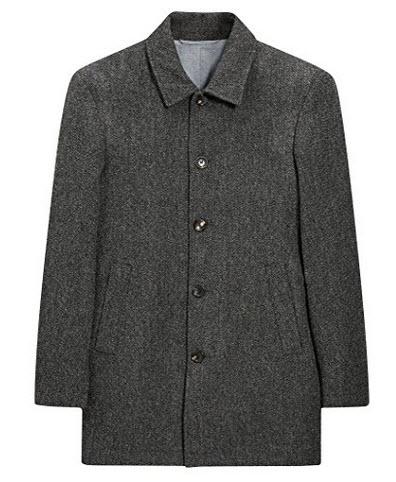 next Men Long Sleeve Warm Winter Wool Car Coat.