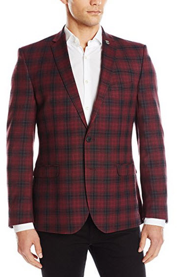 Nick Graham Men's Two Button Plaid Sport Coat.