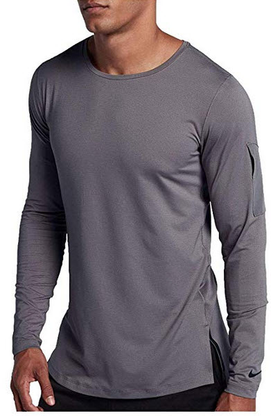 Nike Men's Modern Utility Fitted Long Sleeve Training Shirt gunsmoke black