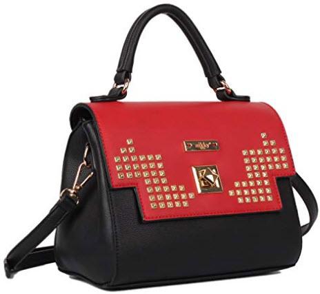 Nikky Women's Shoulder Bag Top-Handle Handbag [Black] Crossbody Purse, One Size