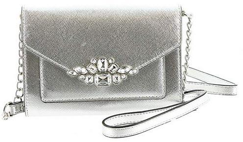 Nine West Aleksei w/Jewels Crossbody Bag Silver