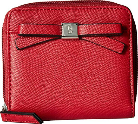Nine West Womens Sibylle SLG Zip Indexer, ruby red
