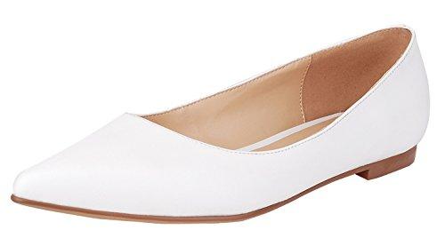 NIUERTE Women's Classic Pointed Toe Flat Slip On Ballet Shoes