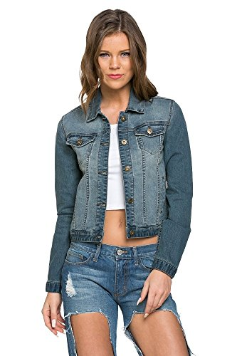 O2 Denim Women's Classic Trucker Jacket, JK 8002