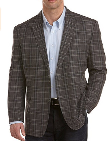 Oak Hill Big & Tall Large Plaid Sport Coat.