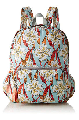 Oilily Enjoy Ornament Backpack Lvz, Women's Handbag, Turquoise (Light Turquoise), 13x40x30 cm (B ...