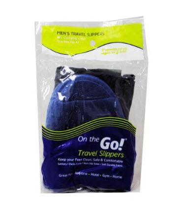 On the Go Travel Slippers for Men .