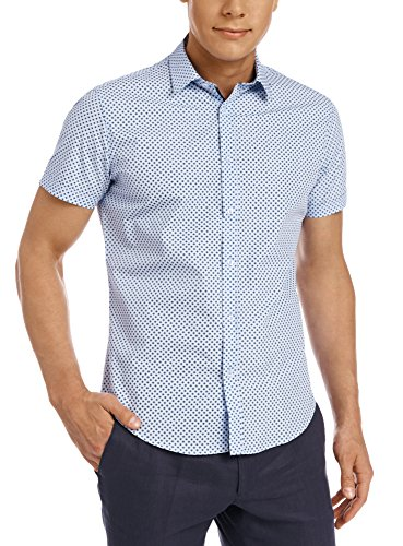 oodji Ultra Men's Slim-Fit Shirt With Graphic Print