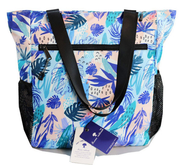 ESVAN Original Floral Water Resistant Large Tote Bag Shoulder Bag for Gym Beach Travel Daily Bag ...