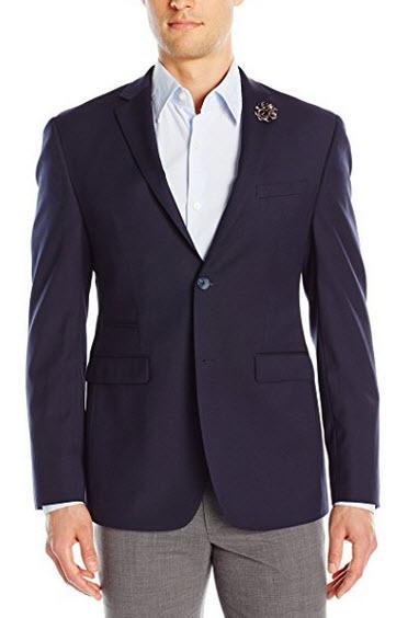 Original Penguin Men's Two Button Slim Fit Blazer navy