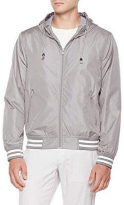 Otterline Men's Everyday Regular-Fit Light Weight Jacket Hood, grey