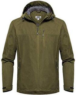 Outdoor Ventures Men's Lake Waterproof Raincoat Windbreaker Lightweight Packable Rain Jack ...