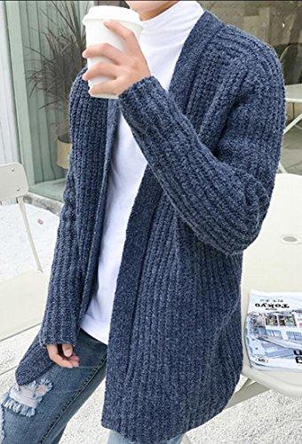 ouxiuli Men's Classic Fashion Open Front Shawl Collar Sweater Cardigan