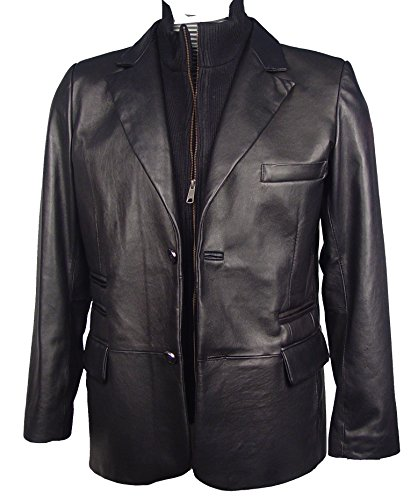 Paccilo Men 1043 TALL & BIG SIZE clean soft Leather Blazer