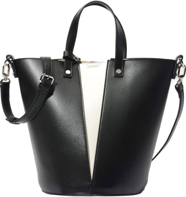 PACO TORA Bucket Handbags Color-block Shoulder Bag Top-handle Capacity Crossbody Bags for Women