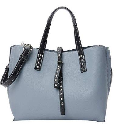 PACO TORA Top handle Tote Bag Rivet Handbags Shoulder Bag Crossbody Bag