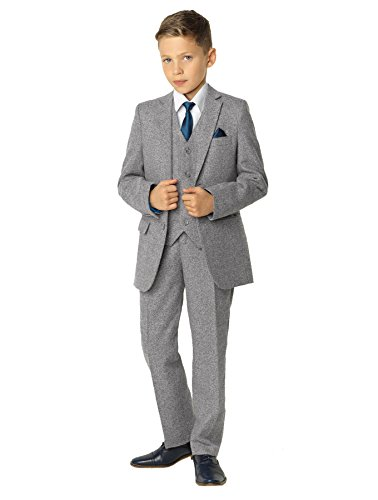 Paisley of London Boys Gray Suit, Ring Bearer Suit