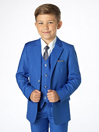 Paisley of London Boys Slim Fit Suit With Vest and Shirt, Ring Bearer Suit