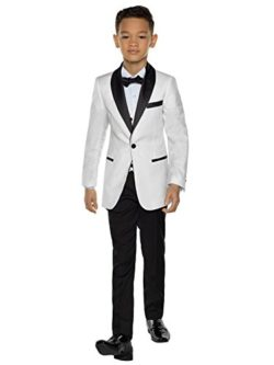 Paisley of London Boys Tuxedo, Boys Dinner Suit, Boys Prom Suits, 12-18 Months – 14 Years