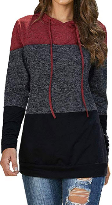 Paitluc Long Sleeve Hoodies for Women Women Hooded Top Pullover Sweatshirt Sweatshirts for Women ...