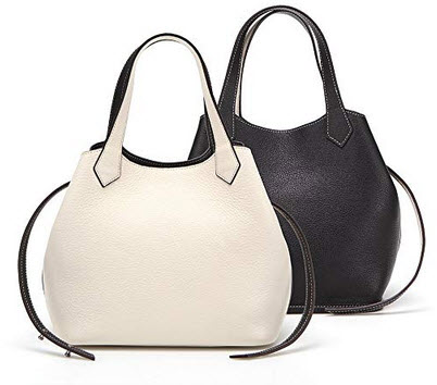 Palla Women's A-Bag Plus (REVERSIBLE) Ivory-Black, Large