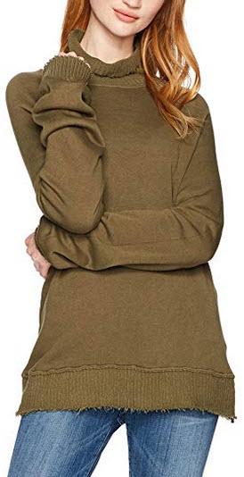 Pam & Gela Women's Fleece Turtleneck olive
