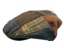 Patchwork Flat Cap Irish Tweed Made in Ireland John Hanly & Co.