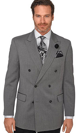 Paul Fredrick Men's Featherbone Super 120s Pure Wool Double-Breasted Sport Coat.