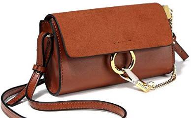PeMe Crossbody Bag, Shoulder Bag, Women's Mini Flap Bag, Brown