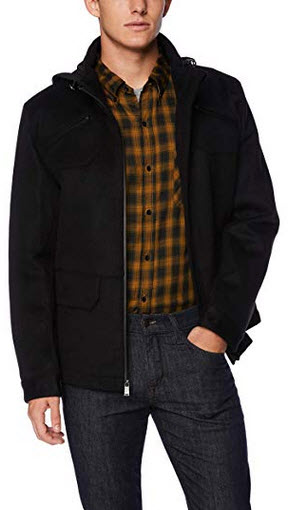 Pendleton Outerwear Albuquerque Cascade Waterproof Breathable Wool Coat black