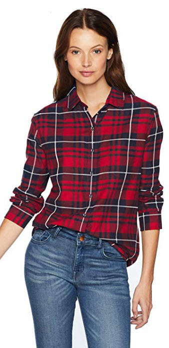 Pendleton Women's Primary Flannel Shirt red/navy plaid