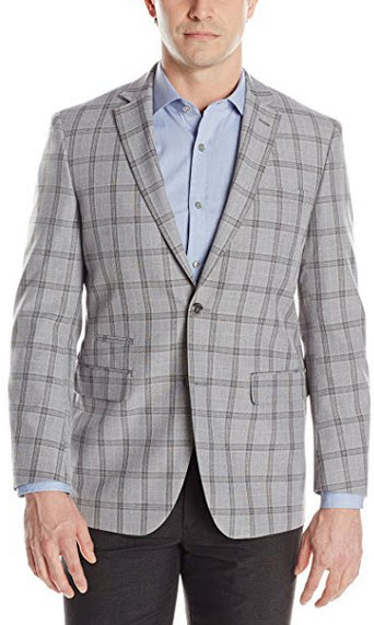 Perry Ellis Men's Plaid Two Button Sport Coat.